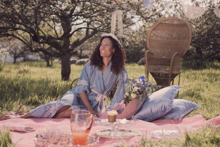 Enjoying the spring sunshine at the Apple Orchard